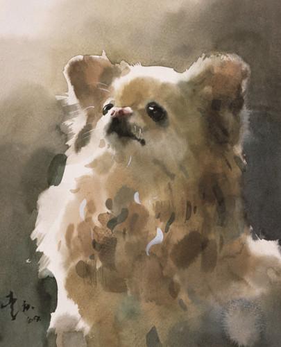 画家李庆水彩·粉画展在京举办