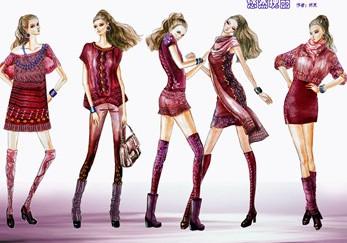 手绘服装设计图彩铅画服装设计图 彩铅服装设计图11